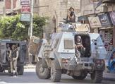 Egyptian police guard street in North Sinai provincial capital of al-Arish last month (AFP/file photo)