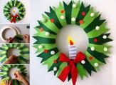 اصنعيه بنفسك: إكليل الباب لزينة الكريسماس