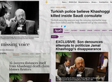 Protesters gather in Istanbul to demand the whereabouts of Jamal Khashoggi (Al Bawaba)