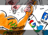 Facebook and Google are being accused by Mintpress News platform of censoring their content. (Courtesy: Carlos Lattuf to Mintpress)
