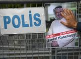 Poster for Jamal Khashoggi. (AFP/File Photo)