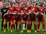 Palestine's team pose for a group picture during the 2019 AFC Asian Cup group B football match between Palestine and Jordan at the Mohammed Bin Zayed Stadium in Abu Dhabi on January 15, 2019. Khaled DESOUKI / AFP