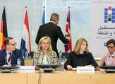 (From left) German Foreign Minister Heiko Mass, Dutch Minister of Foreign Trade and Development Cooperation Sigrid Kaag, British Secretary of State for International Development  Penny Mordaunt and Swedish State Secretary to Minister for Foreign Affairs Annika Soeder. (AFP/ File Photo)