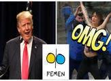 """ناشطات من Femen يعترضنّ موكب """"ترامب"""" في باريس"""