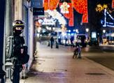 A French police officer stands guard near the scene of a shooting on December 11, 2018 in Strasbourg, eastern France. (Abdesslam MIRDASS / AFP)