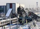 Nine people were killed and nearly 50 injured in this train accident in Turkey's Ankara. (ADEM ALTAN / AFP)