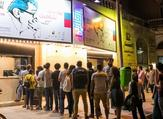 """Viewers line up to see """"Youssef Chahine: The Restoration Project,"""" at the opening of Zawya Cinema's new location, Karim Cinema, two months ago. (Zawya Cinema and Distribution)"""