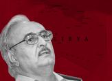 General Haftar in front of Libya (Rami Khoury/Al Bawaba)