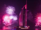 عروض رأس السنة للألعاب النارية في برج العرب