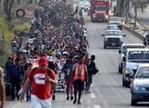 آلاف من قافلة مهاجري أمريكا الوسطى يطلبون اللجوء في المكسيك