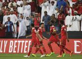 Oman and Turkmenistan looked set to be eliminated with a 1-1 draw, but two late goals sent the Gulf Cup champions through in the Asian Cup.