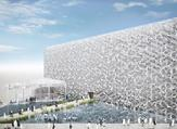 The pavilion is themed as 'The Crosspoint for the Future'. (MEConstruction)