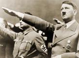 Adolf Hitler, giving Nazi salute (Shutterstock)