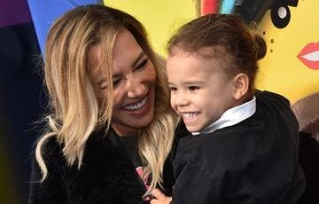 "In this file photo US actress Naya Rivera and son Josey Hollis Dorsey arrive for the premiere of ""The Lego Movie 2: The Second Part"" at the Regency Village theatre on February 2, 2019 in Westwood, California. ""Glee"" star Naya Rivera is missing and feared drowned at a California lake, where divers, patrol boats and helicopters resumed their search for the US actress on July 9, 2020. (AFP/File)"