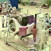 Named Chandrayaan-2, the craft is made up of an orbiter, a lander and a rover developed by the Indian Space Research Organisation (ISRO).