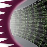 Qatar's stock market is sharply ahead on local retail accumulation as listed firms go through the 1:10 stock split