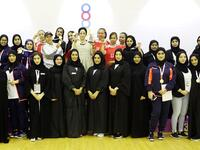 Medal winners and officials during the past edition of the Sharjah Women's Sports Cup pose for a photo during the awards ceremony. - Supplied photo