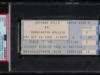 A ticket from Michael Jordan's NBA debut, which sold for 24,907.50 on Thursday, was the latest item to see a surge in price since ESPN's The Last Dance documentary series aired in April and March. (Photo: Huggins & Scott)