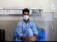 Photo: Hossein Nouri in Masih Daneshvari Hospital/Borna News Agency