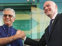 Fifa president Gianni Infantino (right) with AFC president Sheikh Salman bin Ebrahim Al Khalifa. - Agencies file