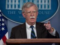 US national security advisor John Bolton speaks at a press briefing at the White House in Washington. (AFP/ File)