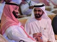 Saudi Crown Prince Mohammed bin Salman (L) talks to Sheikh Mohammed bin Rashid Al Maktoum during the Future Investment Initiative FII conference which was held in Riyadh. (AFP/ File Photo)