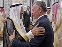 Jordanian King Abdullah II and Kuwait's Emir Sheikh Sabah at the Mecca summit. (AFP)