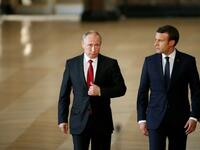 The Kremlin Russian President Vladimir Putin and French leader Emmanuel Macron. (AFP/ File Photo)