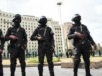 Members of the Egyptian police special forces stand guard on Cairo's landmark Tahrir Square. (AFP/ File Photo)