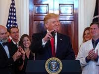 "US President Donald Trump speaks before signing an executive order on ""improving price and quality transparency in healthcare"" in the Grand Foyer of the White House on June 24, 2019. (MANDEL NGAN / AFP)"