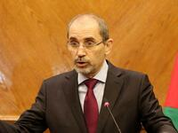 Jordanian Foreign Minister Ayman Safadi speaks during a press conference in Amman. (AFP/ File)