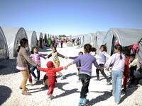 Syrian refugees families. (Shutterstock/ File Photo)