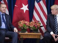 Turkey's President Recep Tayyip Erdogan and US President Donald Trump in 2017 (AFP)