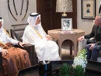 Qatari Foreign Minister Sheikh Mohammed bin Abdulrahman Al Thani meets King Abdullah II in April [AFP]