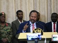Abdallah Hamdok, speaks after being sworn in as Sudan's interim prime minister in the capital Khartoum on August 21, 2019. (AFP/ File Photo)