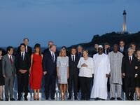 G7 leaders and guests pose for a family picture with the Biarritz lighthouse in the background on the second day of the annual G7 summit in Biarritz, south-west France on August 25, 2019. (AFP/ File Photo)