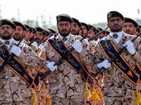 Iran's Revolutionary Guard soldiers. (AFP/ File Photo)
