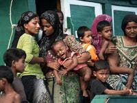 Almost 70,000 Rohingya have fled Myanmar since October (AFP)