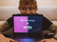Ed Sheeran collaborated with the ketchup brand, Heinz. (Photo: Instagram/teddysphotos)