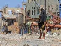 Yemeni soldier shoots Houthi militias, south of Yemen in the city of Taiz . (Shutterstock/ File Photo)