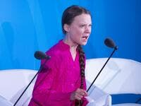 Youth Climate activist Greta Thunberg speaks during the UN Climate Action Summit on September 23, 2019 at the United Nations Headquarters in New York City. Johannes EISELE / AFP