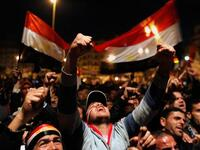 Protests emerged in cities across Egypt Friday night. (Twitter)