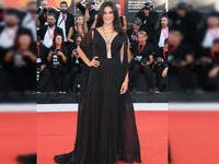 Lebanese actress and director Nadine Labaki chose a dress by Lebanese desginer Georges Hobeika