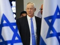 Israeli Kahol Lavan (Blue and White) political alliance leader and retired General Benny Gantz, arrives to give a statement ahead of a midnight deadline in the coastal city of Tel Aviv on November 20, 2019. (AFP/ File Photo)