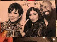 Drake looked pretty comfortable with Kris Jenner and 18-year-old Kylie! ((c) Instagram)