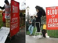 Christian banned from displaying banner proclaiming his beliefs vows (Twitter)