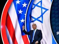 US President Donald Trump stands on stage after his address to the Israeli American Council National Summit 2019 at the Diplomat Beach Resort in Hollywood, Florida on December 7, 2019. MANDEL NGAN / AFP