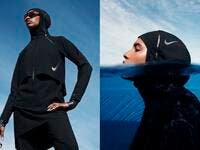 Nike announced the arrival of the company's first full-coverage swimsuits. (Supplied/ Arab News)