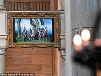 The 1.3 by 1.9 metre photograph was offered to the St. Paul's Church in Malmo, the third largest city in the country, where it was located to the right of the altar from its inauguration on December 1, 2019.(AFP/ File Photo)