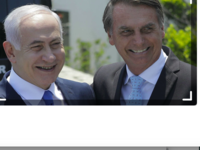 Netanyahu (L) with Bolsonaro (AFP File Photo)